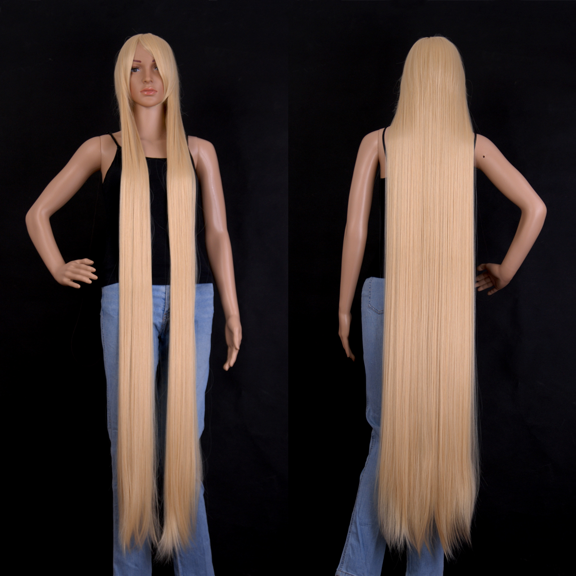 150cm 60 Inch Free Shipping Extra Long Hair Straight