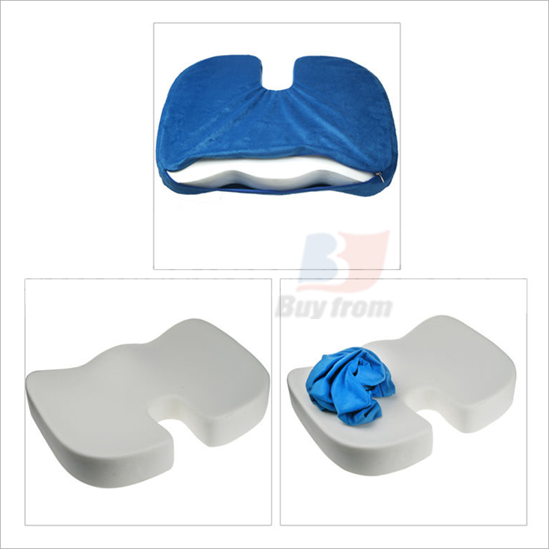 Broken U Shaped Kitchen: Coccyx Orthopedic Memory Foam Seat Cushion Back Pain Relief Chair Pillow