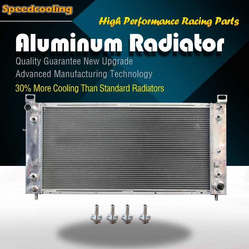 3Row Aluminum Radiator For Chevy GMC C//K Tahoe Silverado Suburban 5.0 5.7