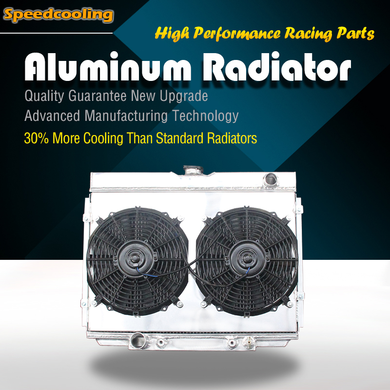 For 67-70 Ford Mustang Falcon Fairlane V8 TRI-Core//Row Aluminum Cooling Radiator