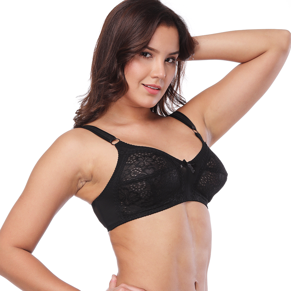 f0fff349fd07d3 Sexy Bralette Lace Unpadded Wireless Comfort Bra Minimizer for Big ...