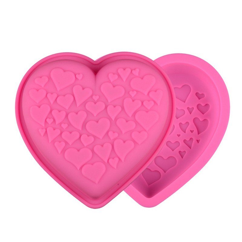 Love Heart Silicone Fondant Mold Cake Decorating Chocolate Baking Mould Tool