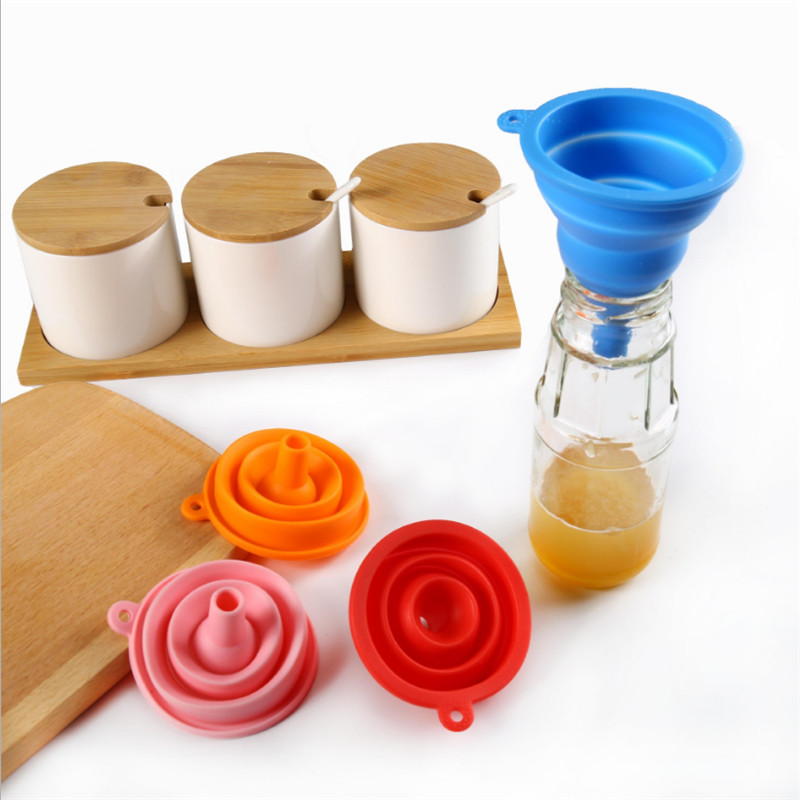 Food Grade Silicone Funnel Portable Soft Kitchen Dinning