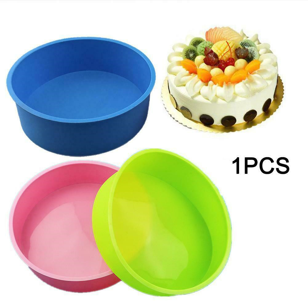Random Color ERTYUI Silicone Cake Moulds Tins Round Cake Pan Set of 4//6//8 Inch Non-Stick Baking Molds Bakeware Tray for Birthday Party Wedding Anniversary