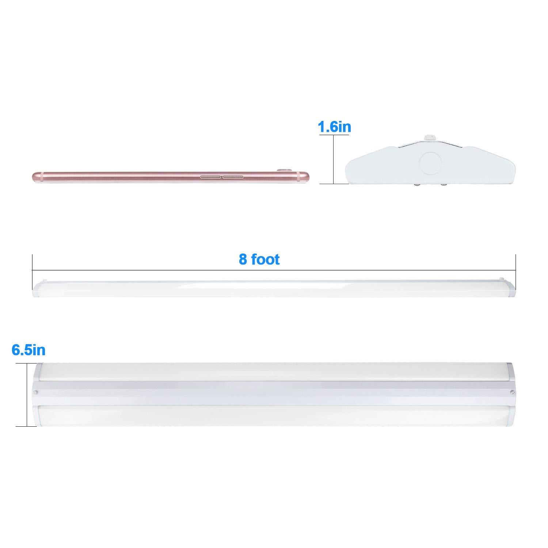8 Ft 2 Lamp Fluorescent Strip Light White No Ssf2964wp 8ft: AntLux 110W 8FT LED Wraparound Ultra Slim Strip Lights