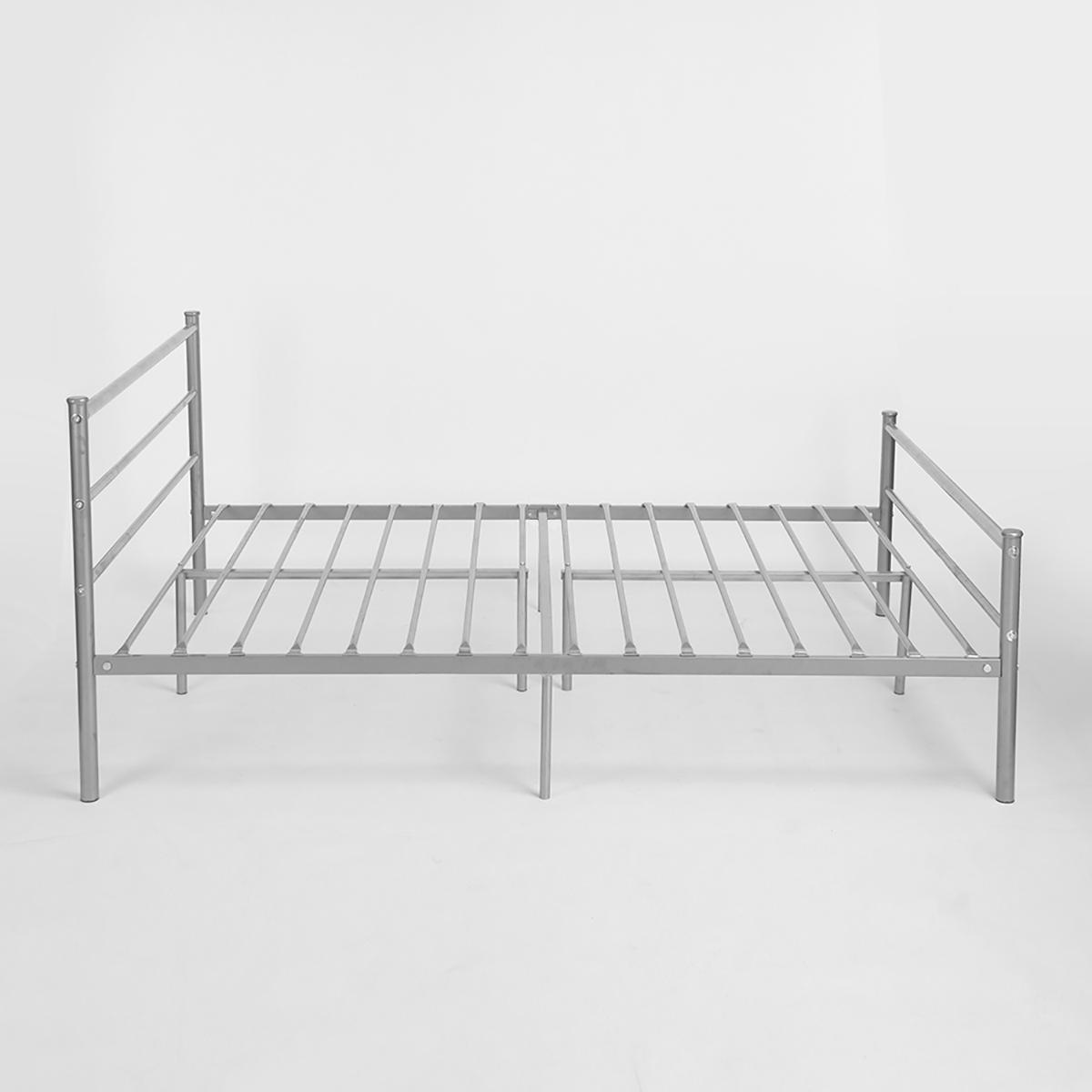 EGGREE Metal Double Bed 4ft 6 Bed Frame Solid Bedstead Base mattress ...