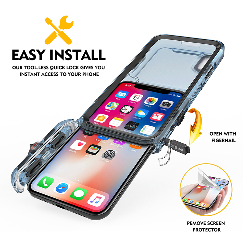 new concept 19aae a7d29 Details about Waterproof Shockproof Phone Cover Case Underwater Full Body  Cover For iPhone X