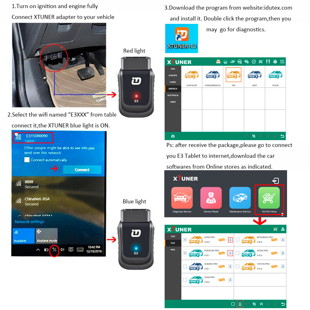 Details about XTUNER E3 V9 6 Wifi Full System OBD II Auto Diagnostic  Scanner Replace Vpecker