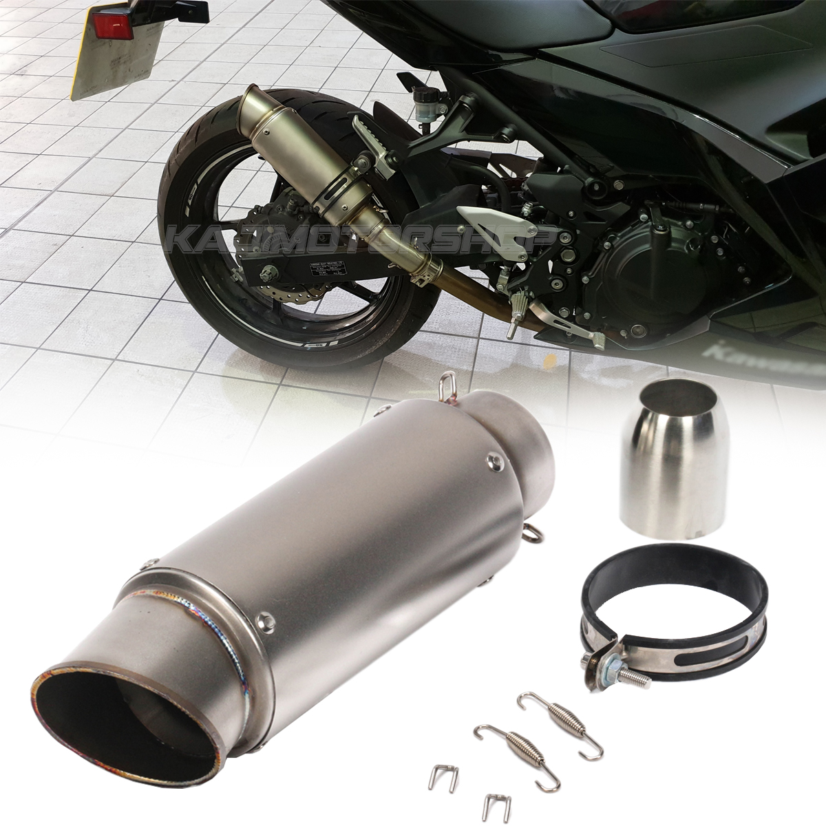 1 Set New Motorcycle Exhaust Muffler Pipe Silencer Slip on for Yamaha YZF-R6