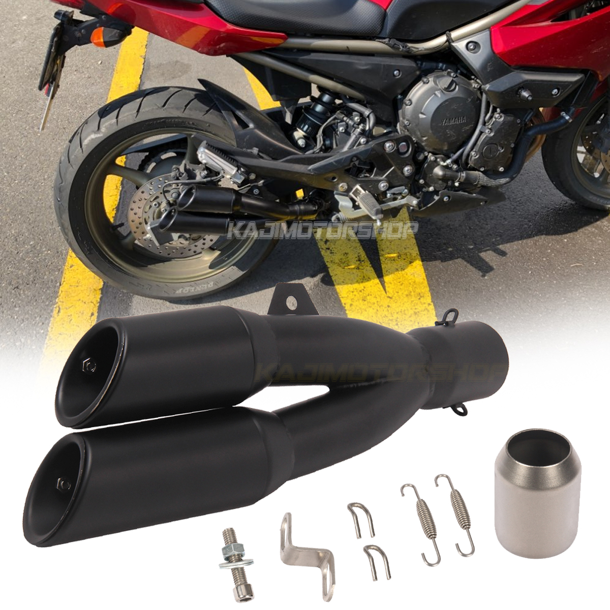 MGOD 38-51 mm Universal Motorcycle Exhaust Pipe Dual Tail Outlet Pipe Slip On Dirt Street Bike Motorcycle