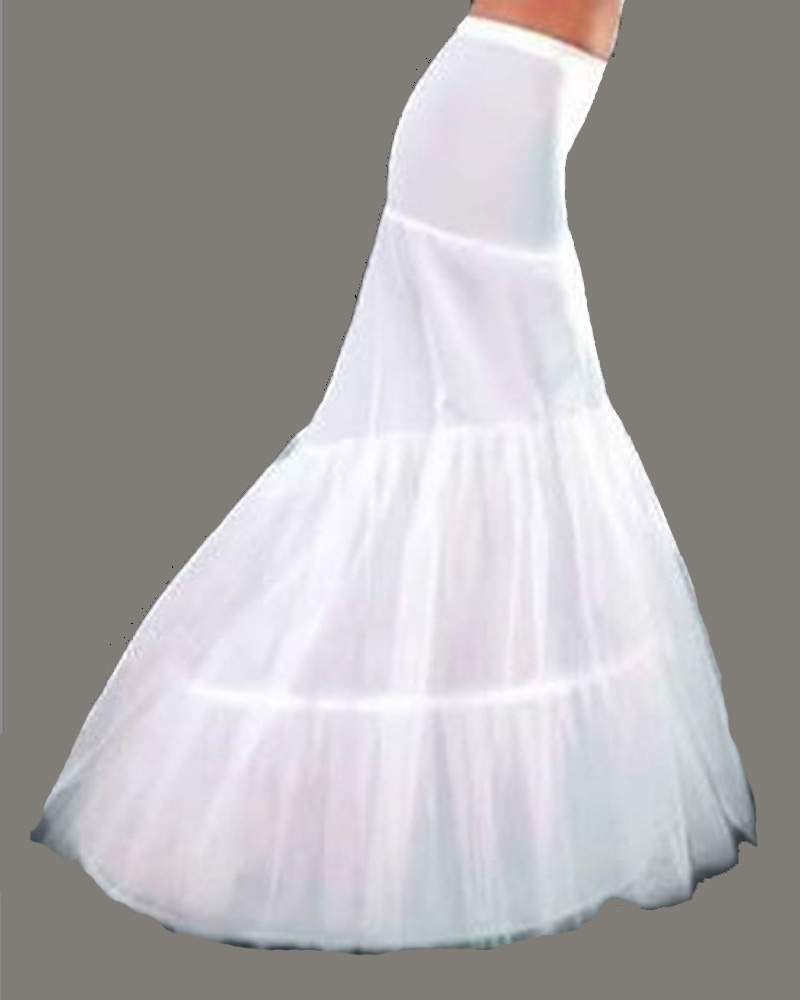 WHITE BRIDAL WEDDING DRESS PROM PETTICOAT UNDERSKIRT CRINOLINE Skirt ...