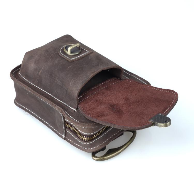Herren Herren Herren Echtleder Größe Taschen Schulter Umhängetasche Gürtel Beutel Bauchtasche 5ae760