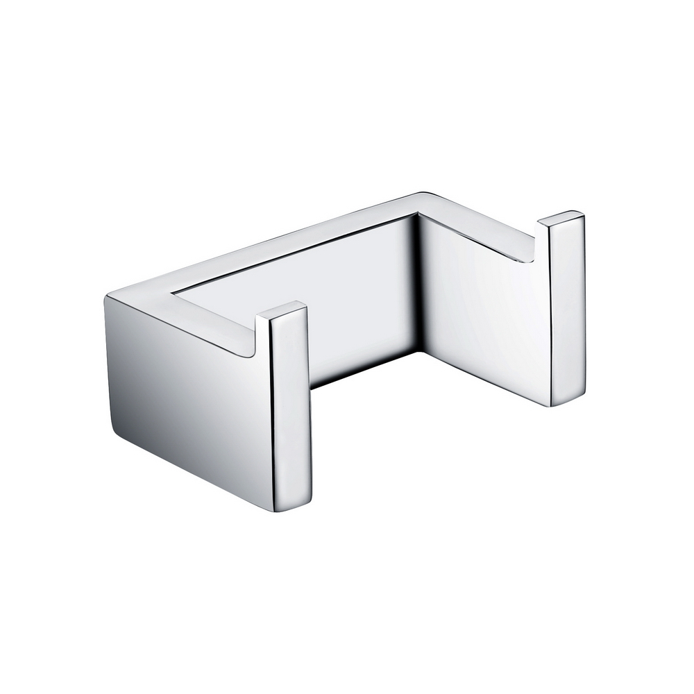 Homelody double towel robe hook in chrome black bathroom - Black and chrome bathroom accessories ...