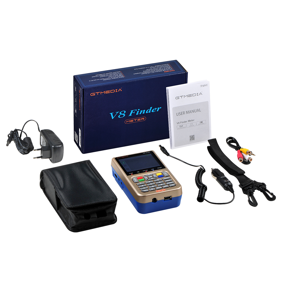 Details about New V8 Finder Digital Sat Finder FTA DVB-S/S2/S2X 1080P Full  HD Satellite Finder