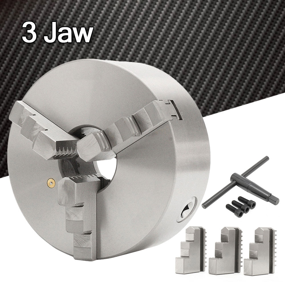 8in 200mm 3-Jaw Lathe Chuck Self Centering Hardened Steel K11-200 Reversible Jaw
