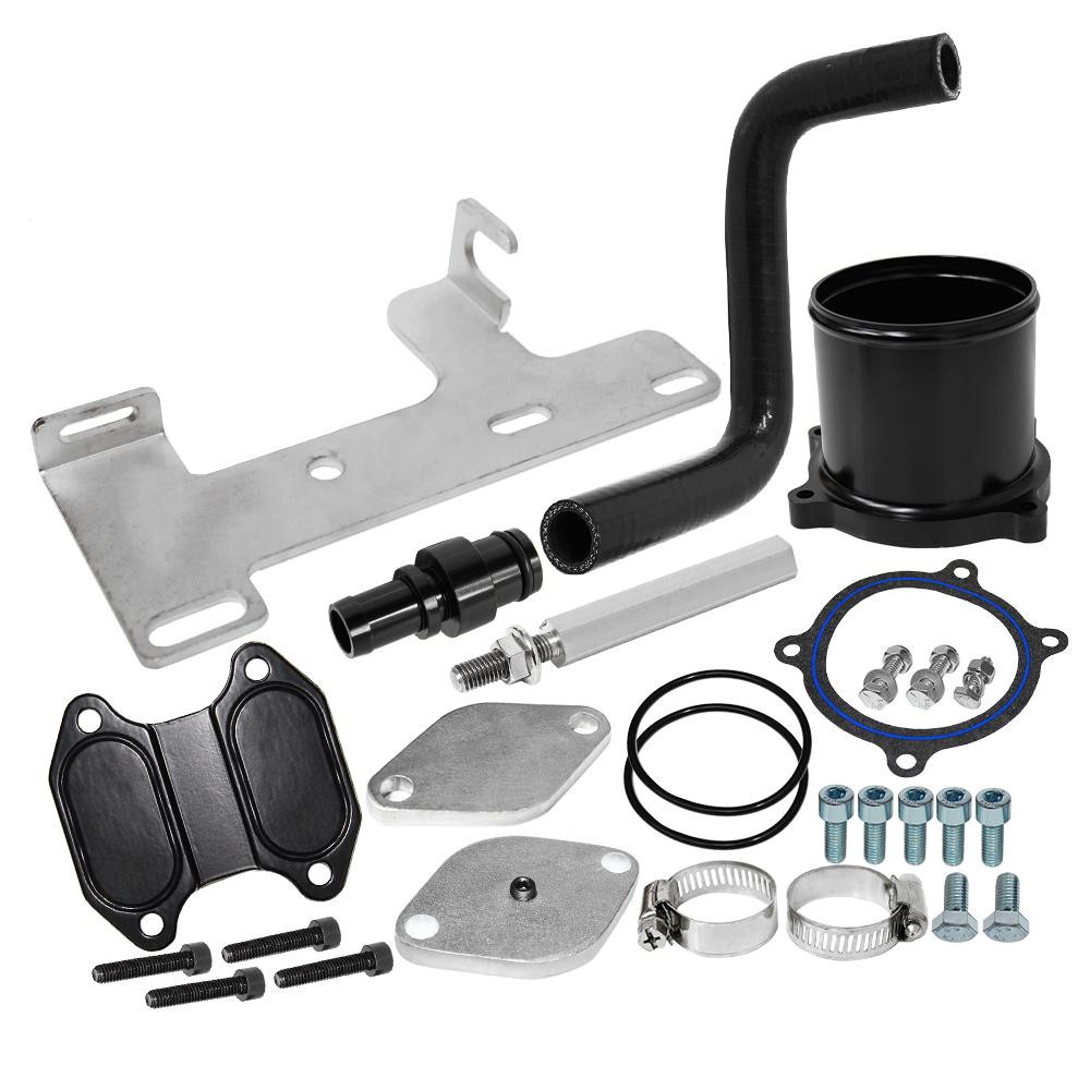 EGR Valve Cooler Delete Kit for 10-14 Dodge Ram Trucks 6.7L Cummins Diesel Turbo