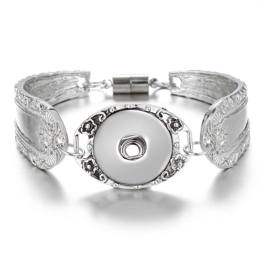 Chunk Charm Expandable Bangle Bracelets drill fit for Noosa Snaps Button Pick