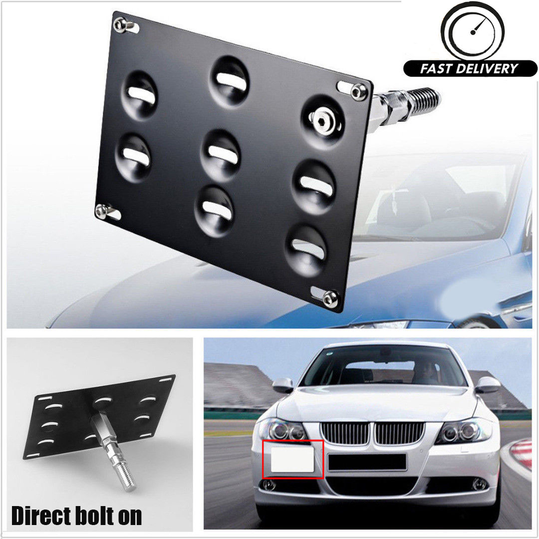 Front Bumper Tow Hook License Plate Mount Bracket Holder For BMW 1 3 5 X5 X6 New