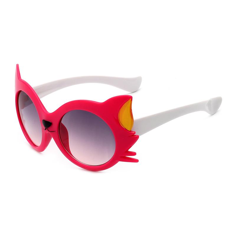 Kids Cartoon Cat UV400 Sunglasses Boys Girls Lovely Shade Goggles Eyewear Resin