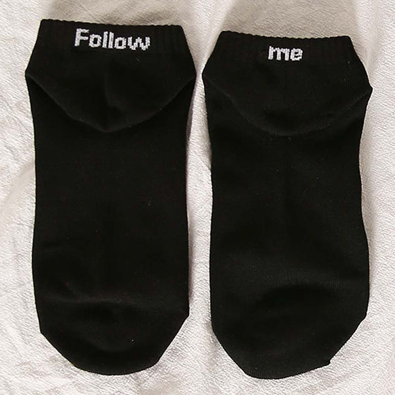 Funny Socks Letters Ankle Socks Unisex Cotton Novelty Comfortable Women Men Sox