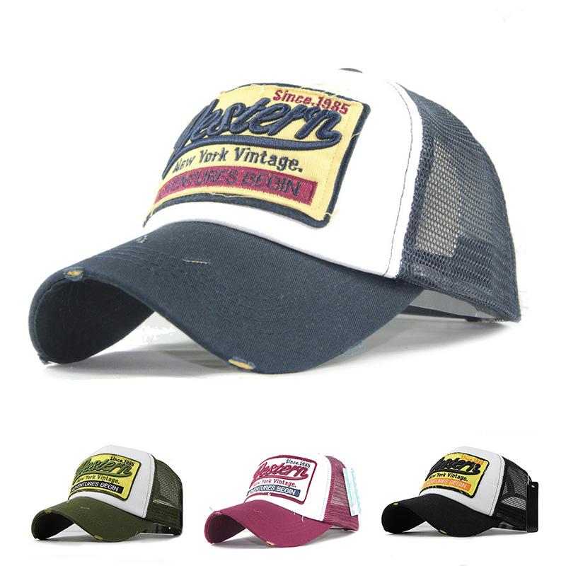 b7db800ceef Details about Summer Mesh Baseball Cap Embroidery Hats For Men Women Hip Hop  Sun Caps Dad Hats