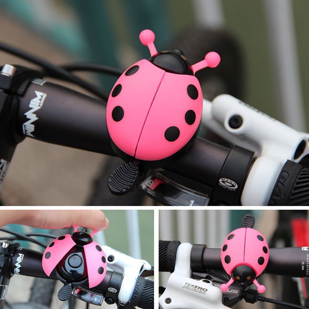 Bicycle Ladybug Bell Alarm Bike Metal Handlebar Horn Safety Accessories Ring New