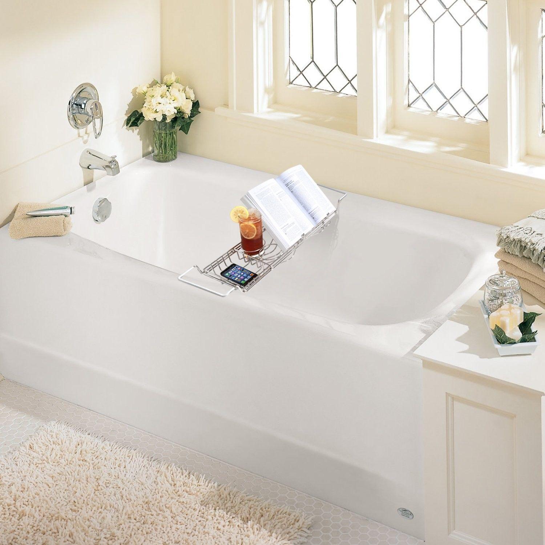 Bathroom Bathtub Cups Book Rack Shelf Shower Tub Tray Wine Glass ...