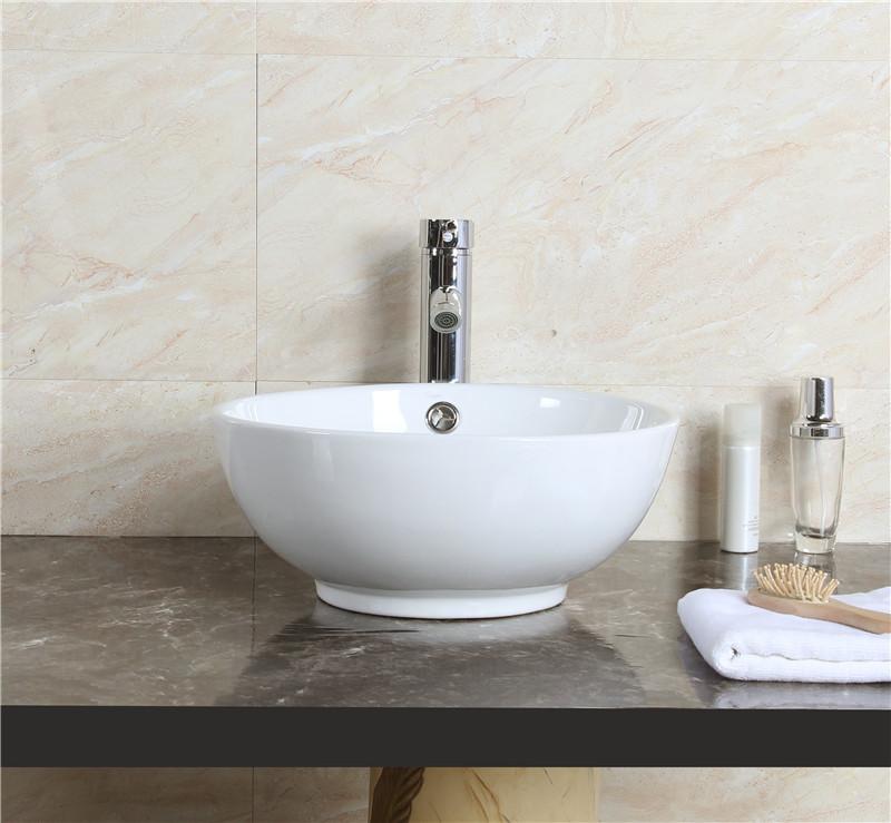 keramik waschschale waschtisch aufsatz waschbecken hand waschplatz wei rund neu ebay. Black Bedroom Furniture Sets. Home Design Ideas