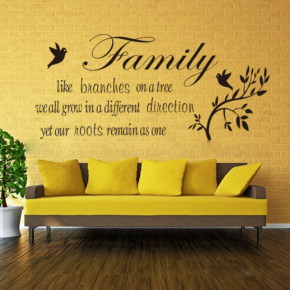 English quote bedroom living room wall sticker vinyl decal for Living room decor quotes