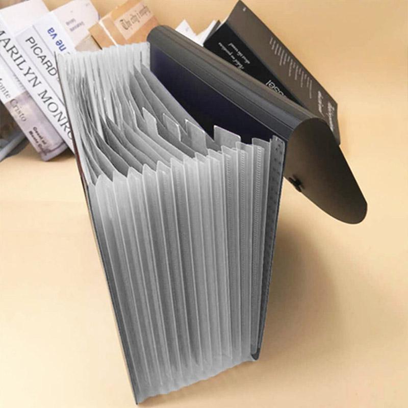 Papier Dateiordner Document Organizer 13-Pocket Fächermappe Expanding Büro Haus