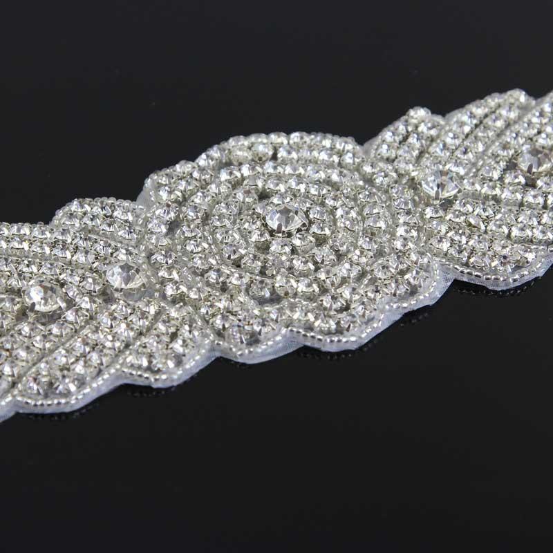 Klar Strass Silber gold Rheinkiesel Brautkleid zum Aufbügeln Verzieren Rabatt