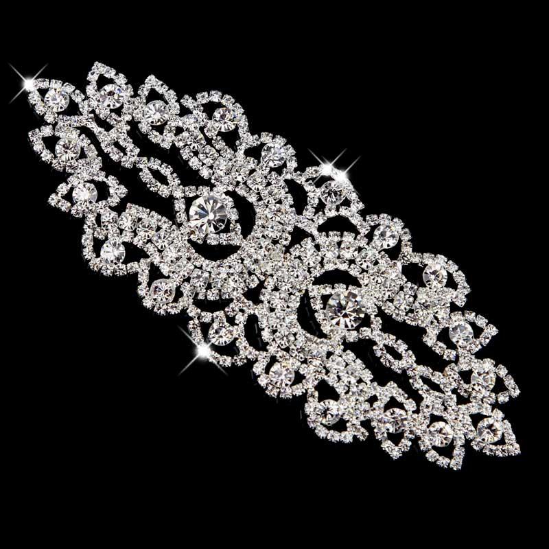 1 Stück Silber Gold Glas Strass Kleidung Hochzeit verzieren Blumen Spitze Borten