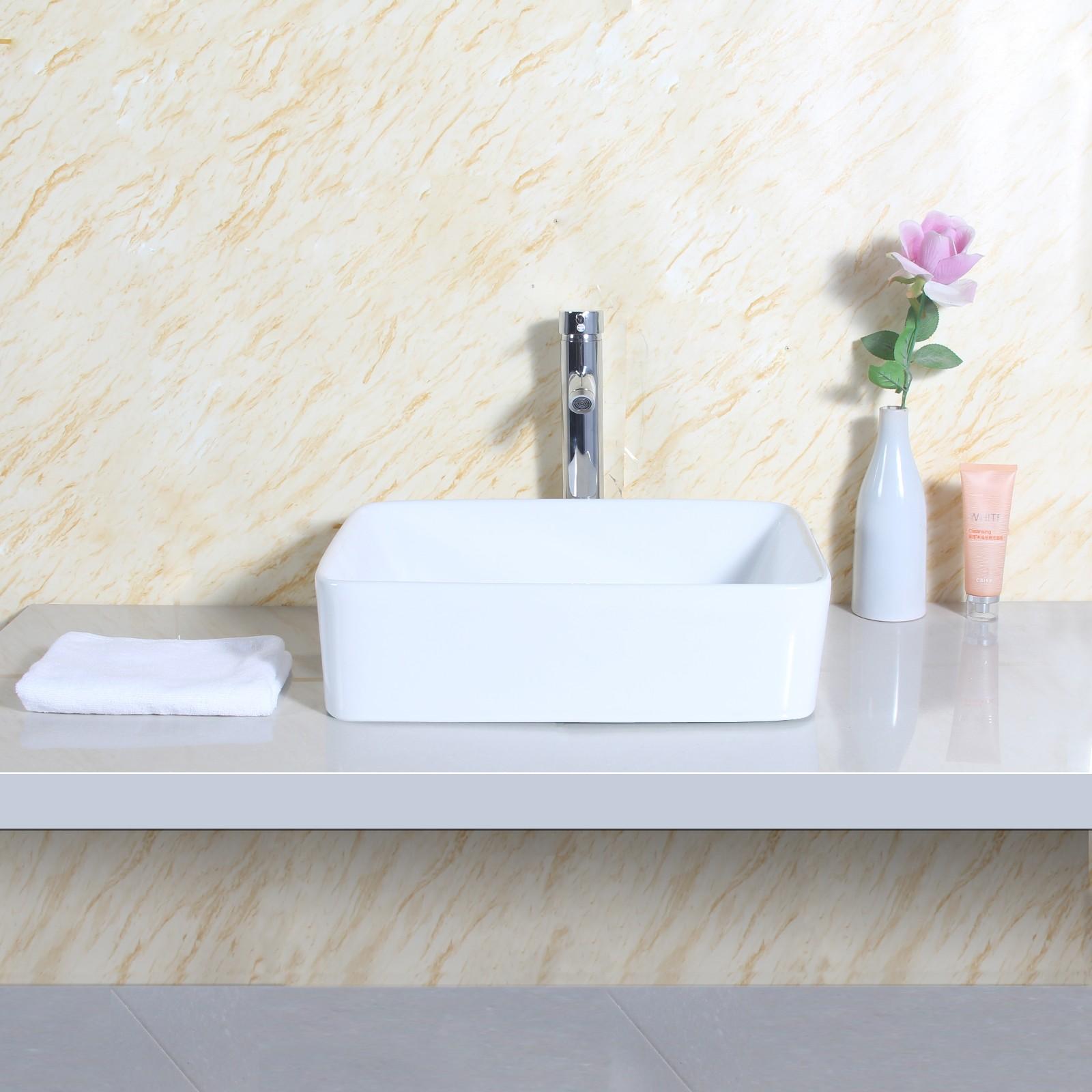 design keramik waschbecken aufsatzwaschbecken rechteckig. Black Bedroom Furniture Sets. Home Design Ideas