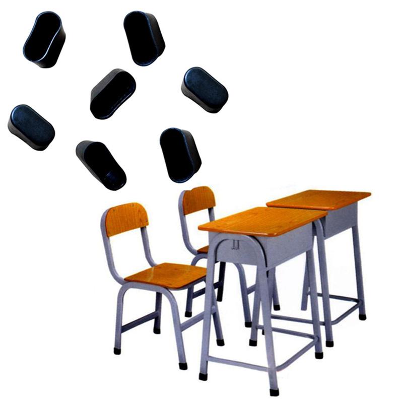 Fusskappen 40 x 20mm Schwarz Stuhlkappen Schutzkappen Rohrkappen Stuhl Schutz