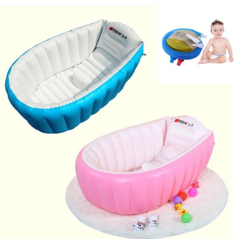 Portable Baby/Kid/Toddler Inflatable Bathtub Newborn Thick Bath Tub ...