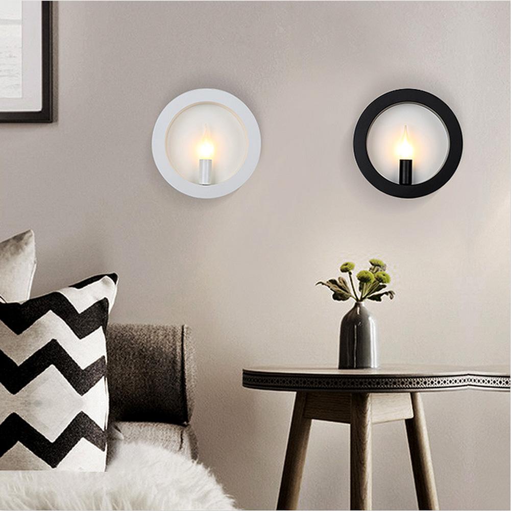 moderne rund wandleuchte wandlampe lampen f r flur zimmer. Black Bedroom Furniture Sets. Home Design Ideas