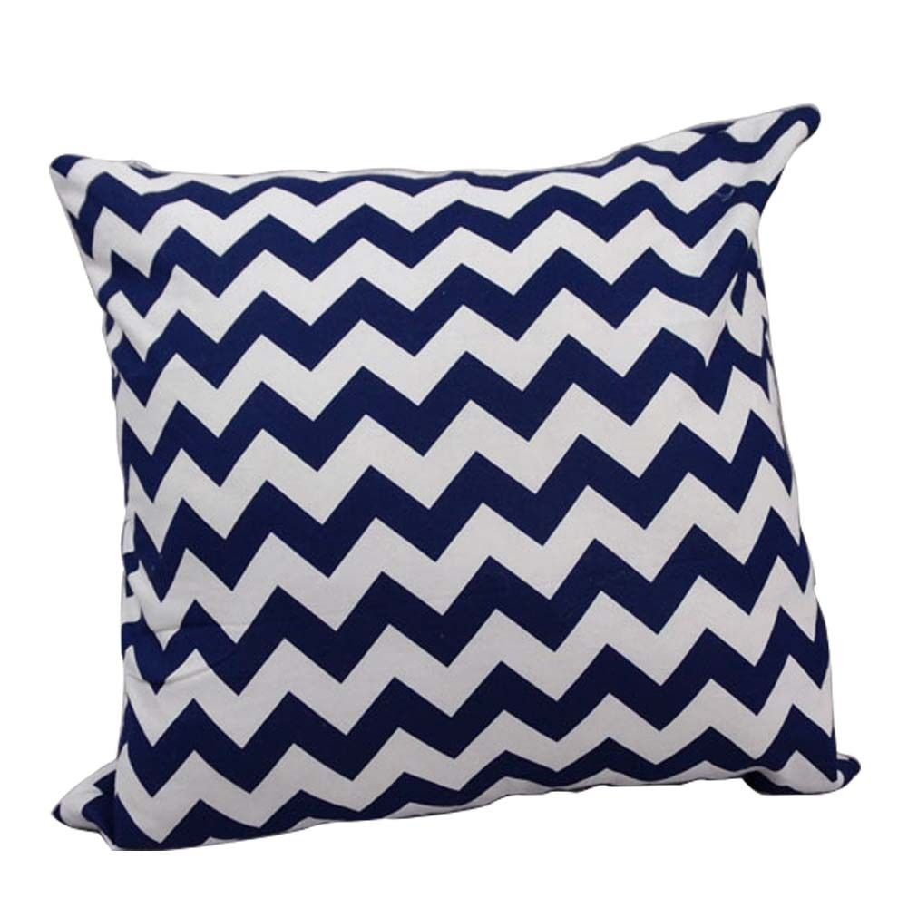 Square Throw Pillow Cases : Vintage Cotton Pillow Case Stripes Throw Square Cushion Covers Sofa Home Decor eBay