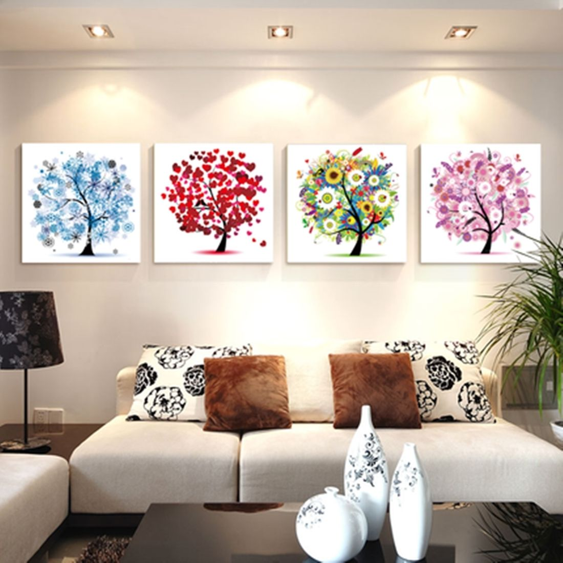 Four Season Colorful Tree Counted Cross Stitch Kit Embroidery Set ...