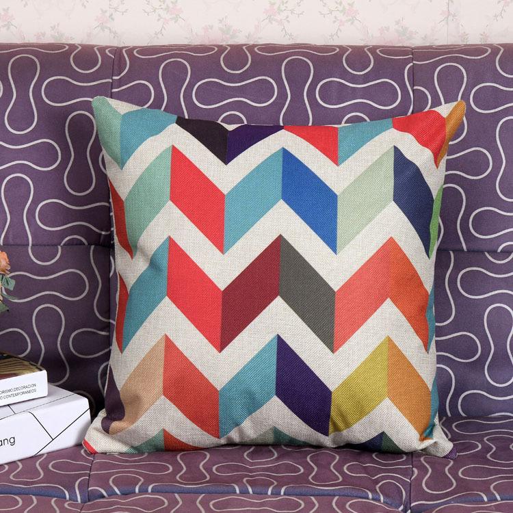 Colorful Stripe Home Room Cushion Cover Throw Pillow Cases Sofa Car Decorative eBay