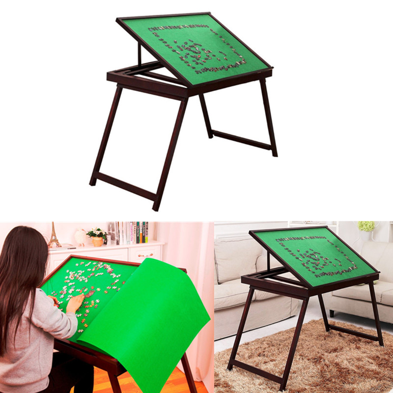 Jigsaw Folding Puzzle Table Storage Wooden Tilting Table For 1500 Pcs  Matnew PTT