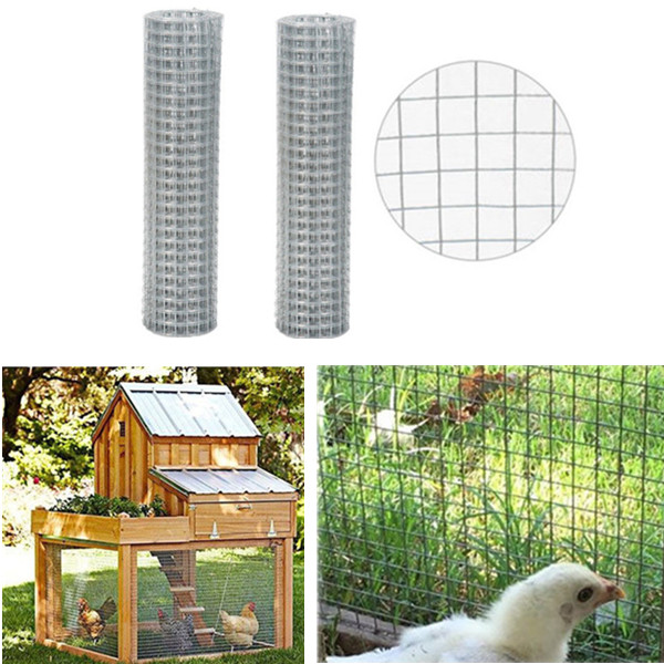 Details about Galvanized Metal Hardware Cloth Welded Wire Mesh Fencing DIY  Chicken Animal Cage