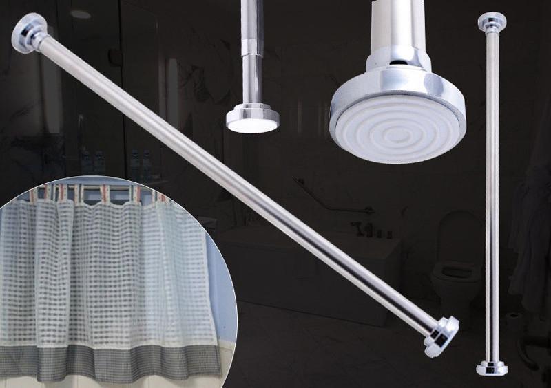 Silber klemmstange duschvorhangstange teleskopstange duschvorhang