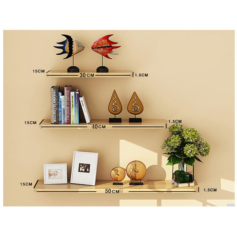 3pcs Display Floating Nesting Wall Shelves Wood Home Decor Mount ...