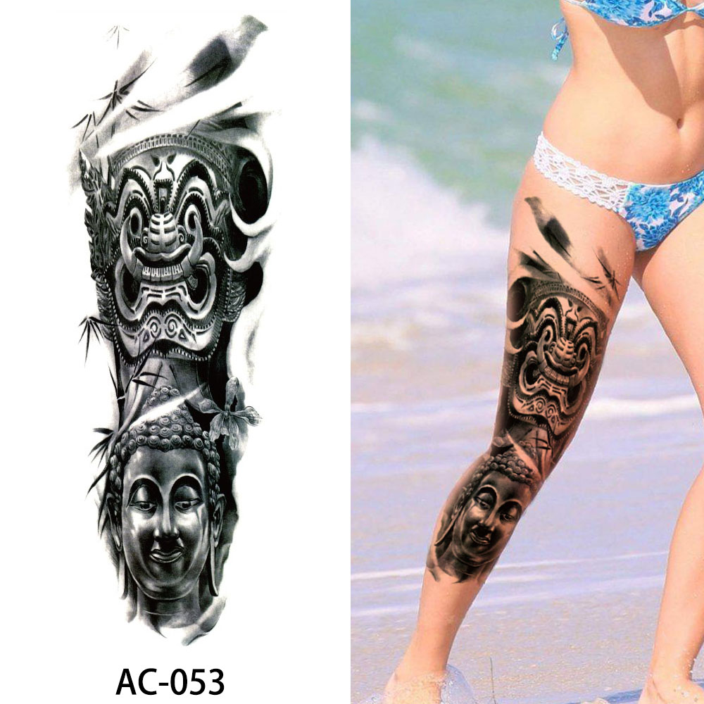 How To Make Money To Travel Temping: Big Large Full Arm Temporary Tattoo Sticker Beauty Decal