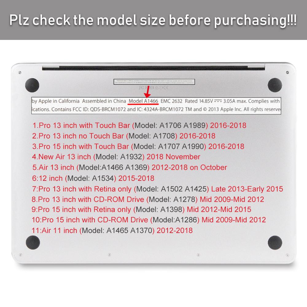 CUT LOGO Matte Hard case for Macbook Air 13 A1932 Pro 13 15 Retina 11 12 inch
