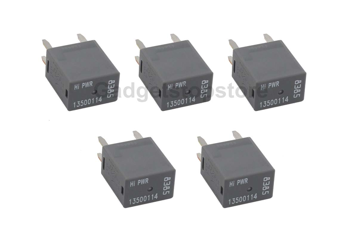 5 Pack New High Power 4pin Terminal Relays For Gm 13500114 8385 9815 Relay Codes