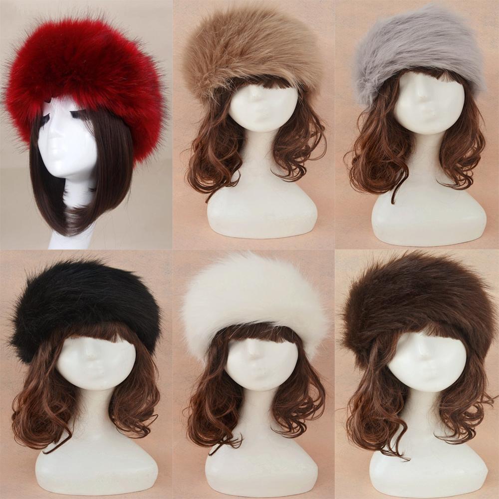 e68112317 Details about Women Russian Thick Fluffy Cap Fake FAUX Fur Headband Hat  Winter Ear Warmer Ski