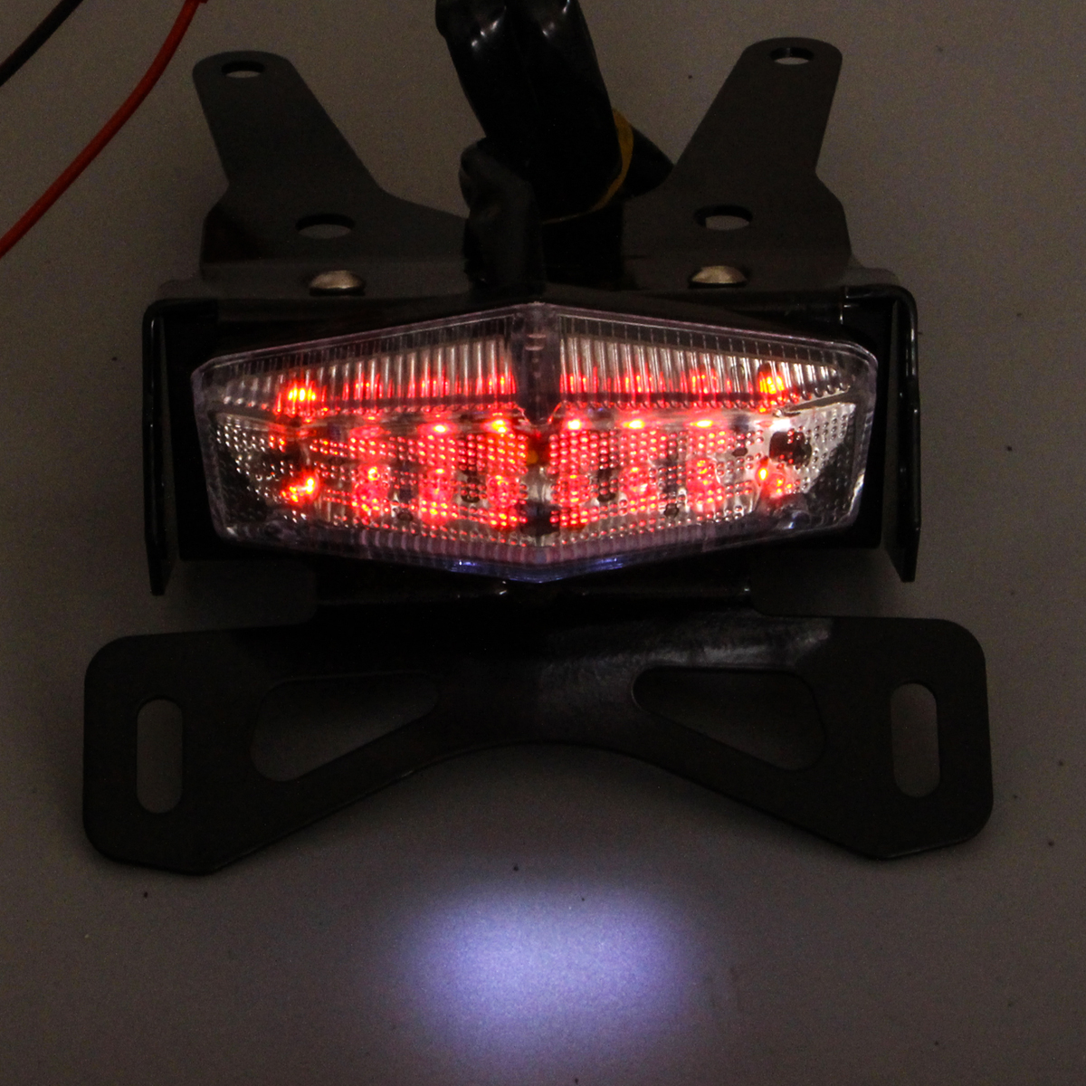Clear Led Tail Light License Plate Holder Flasher For