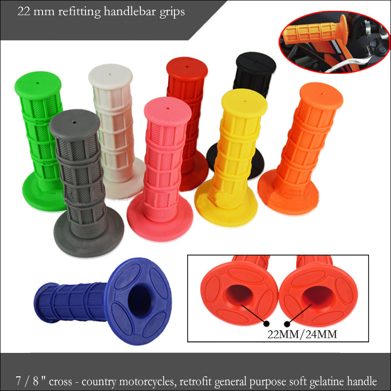 Motorcycle Dirt Bike 7//8/'/' Handlebars Hand Grip Easy Installation