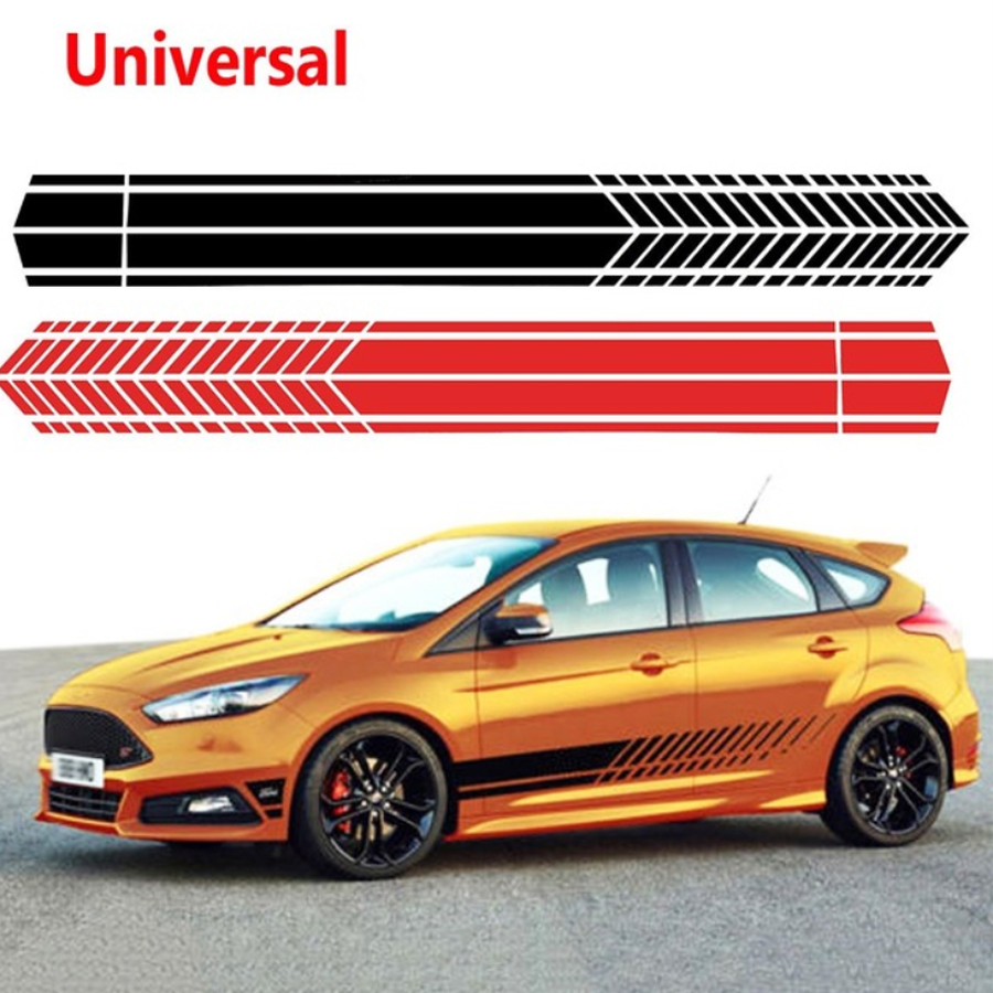 """7/"""" Wide Including 1/"""" Sides Racing Stripe Vinyl Decal Sticker Vehicle Graphics"""